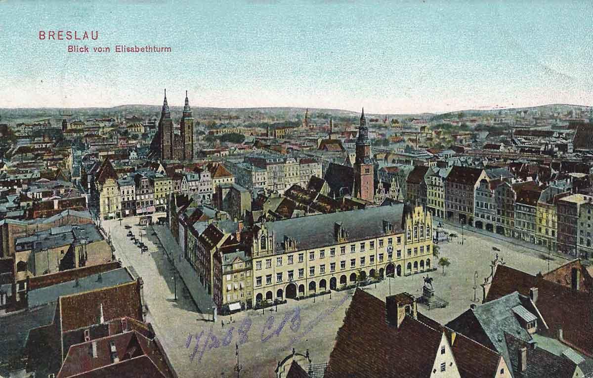 Wrocław. Rynek w1908 roku